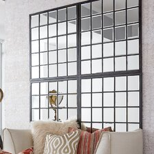 Rectangle Antique Black Window Mirror