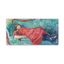 'On The Sofa' by Edvard Munch Print on Wrapped Canvas