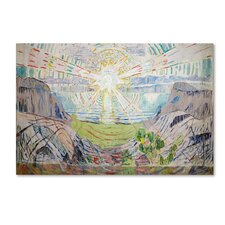 'The Sun' by Edvard Munch Print on Wrapped Canvas