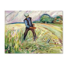 'The Haymaker' by Edvard Munch Print on Wrapped Canvas