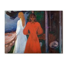 'Red And White' by Edvard Munch Print on Wrapped Canvas