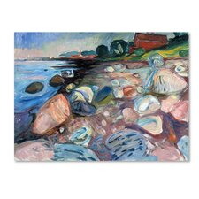 'Shore With Red House' by Edvard Munch Print on Wrapped Canvas