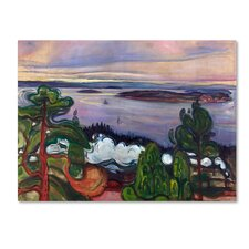'Train Smoke' by Edvard Munch Print on Wrapped Canvas