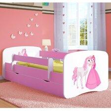 Kinderbett Princess & Pony mit Matratze und Schublade