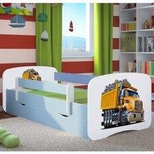 Kinderbett Excavator mit Matratze und Schublade