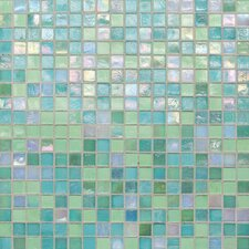 """City Lights 0.5"""" x 0.5"""" Glass Mosaic Tile in Blue"""