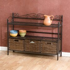 Hillery Storage 3 Drawer Baker's Rack