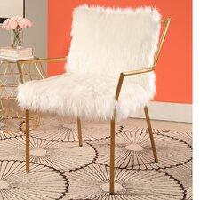 Hillingdon Stainless Steel Faux Fur Arm Chair
