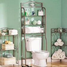 Zula Space saver Free Standing 27.25 W x 66.5 H Over the Toilet Storage by Fleur De Lis Living