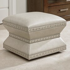 Laurel Canyon Wheatley Leather Ottoman by Lexington