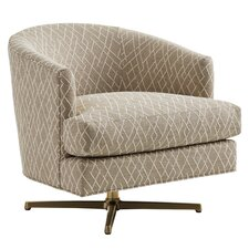 Zavala Graves Geometric Swivel Armchair by Lexington