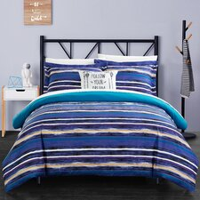 Karan 3 Piece Twin Reversible Duvet Set