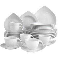 Porcelain Combo Service 30 Piece Dinnerware Set, Service for 6