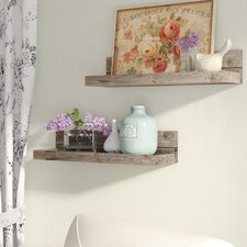2 Piece Reclaimed Floating Shelf Set