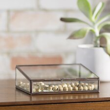 Decorative Glass and Brass Box