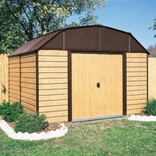 Woodhaven 10 ft. W x 9 ft. D Metal Storage Shed
