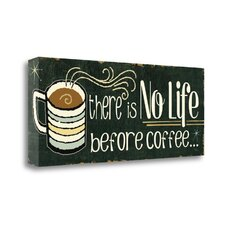 'Funny Coffee II' Textual Art on Wrapped Canvas