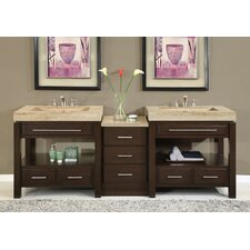 Chester 92 Double Bathroom Vanity Set by Silkroad Exclusive