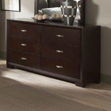 1313 Series 6 Drawer Double Dresser
