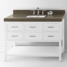 Newcastle 48 Bathroom Vanity Cabinet Base in White by Ronbow