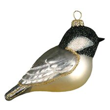 Capped Chickadee Christmas Ornament