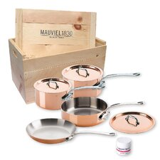 M'Heritage Copper 7-Piece Cookware Set