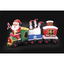 Inflatable Santa Train Christmas Decoration