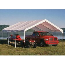 """18' x 20' Super Max 2"""" Frame 8 Leg Canopy with White Cover"""
