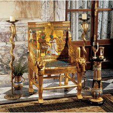 King Tutankhamen's Egyptian Throne Armchair by Design Toscano