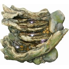 Resin Rock Cascading Fountain with Light