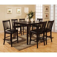 rushford leal 7 piece counter height dining set - Dining Room Table Height