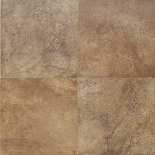 Florenza Porcelain Plain Floor Tile in Brun