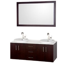 Arrano 55 Double Bathroom Vanity Set with Mirror by Wyndham Collection