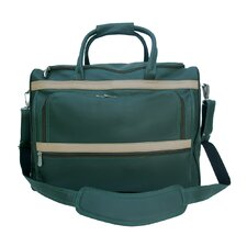 """Traveler 17"""" Leather Carry-On Duffel"""