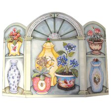 Flower Pots and Vases 3 Panel Fireplace Screen by Stupell Industries