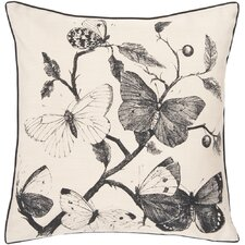 Decorative Butterfly Synthetic Throw Pillow