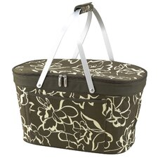 Collapsible Insulated Basket Cooler in Olive Print