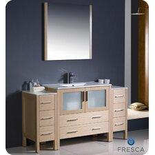 Torino 60 Single Modern Bathroom Vanity Set with Mirror by Fresca