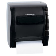 "13"" In-Sight Lev-R-Matic Roll Towel Dispenser in Smoke / Gray"