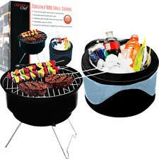 2 Piece Portable Grill and Cooler Set