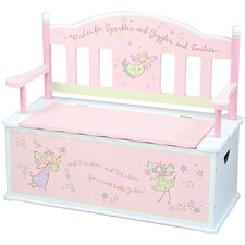 Fairy Wishes Kids Bench with Storage Compartment