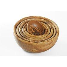 Olive Wood Bowls (Set of 6)