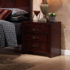 Otago 3 Drawer Nightstand by New Spec Inc