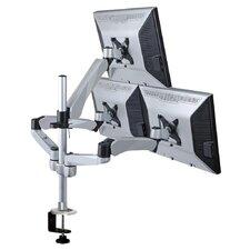 Height Adjustable 3 Screen Desk Mount