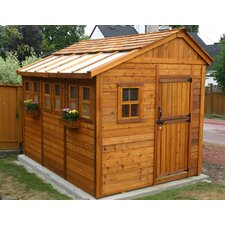 Sunshed 8 ft. W x 12 ft. D Wood Storage Shed