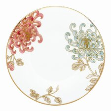 """Painted Camellia 6.5"""" Can Saucer"""