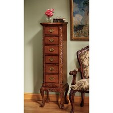 English Chippendale 6 Drawer Tallboy by Design Toscano