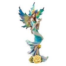 Fairies of Butterfly Hollow Flower Tea Rose Fairy Figurine