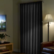 Solid Blackout Rod pocket Single Curtain Panel