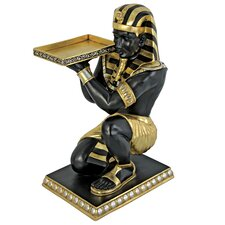 Egyptian Pharaoh's Kneeling Nubian Servant End Table by Design Toscano